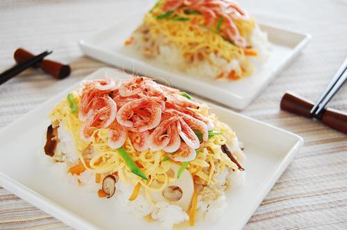 釜揚げ桜えびのちらし寿司